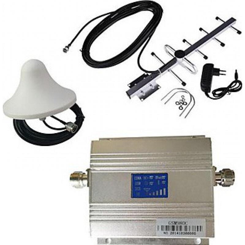 Усилители Усилитель сигнала сотового телефона. Комплект усилителя и антенны. ЖК дисплей GSM