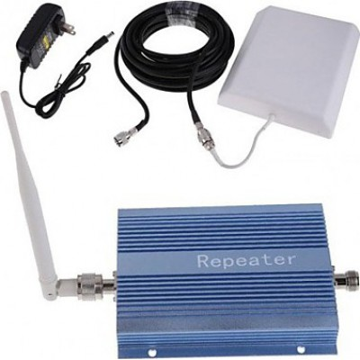 Cell phone signal booster. Amplifier and panel antenna kit