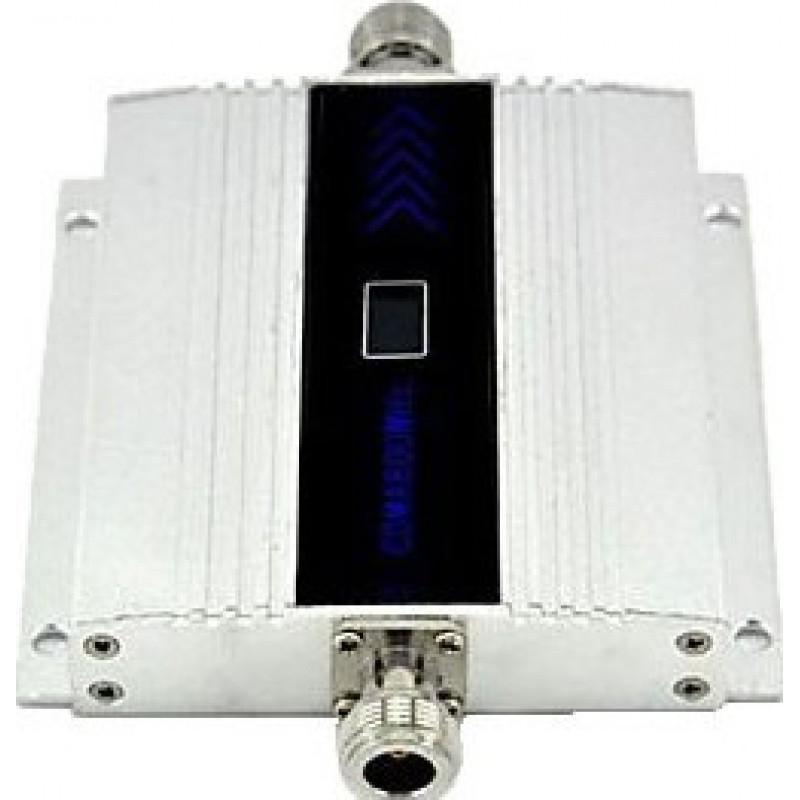 73,95 € Envío gratis | Amplificadores de Señal Amplificador de señal de teléfono móvil. Repetidor y kit de antena Yagi. Cable de 10m. Pantalla LCD CDMA