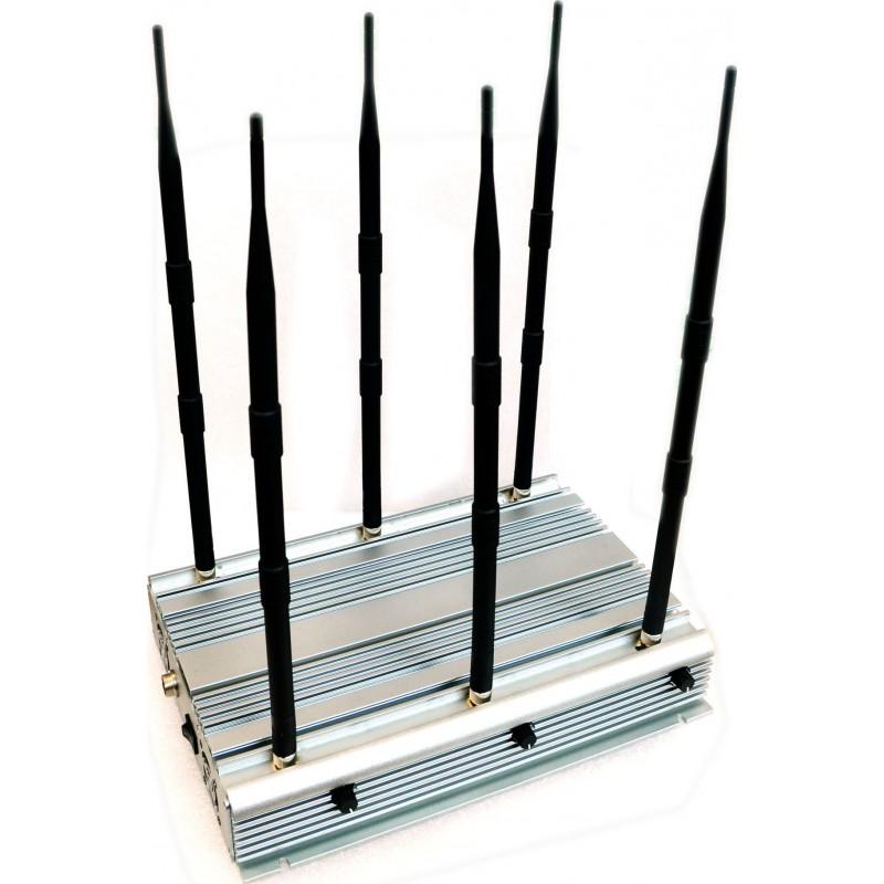 Блокаторы мобильных телефонов 6-ти полосный селектор. 90 Вт Мощный блокатор сигналов 100m