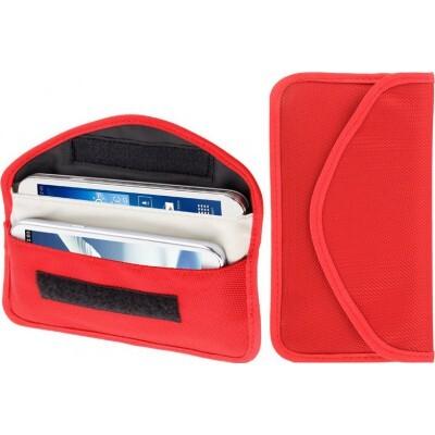 26,95 € 送料無料 | ジャマーアクセサリー 放射線対策布ポーチ。信号遮断バッグ。 6.3インチまでのスマートフォンに適しています。赤色