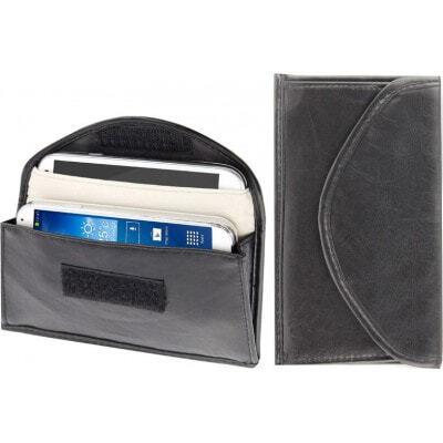 26,95 € 送料無料 | ジャマーアクセサリー 放射線対策布ポーチ。信号遮断バッグ。 6.3インチまでのスマートフォンに適しています。黒色