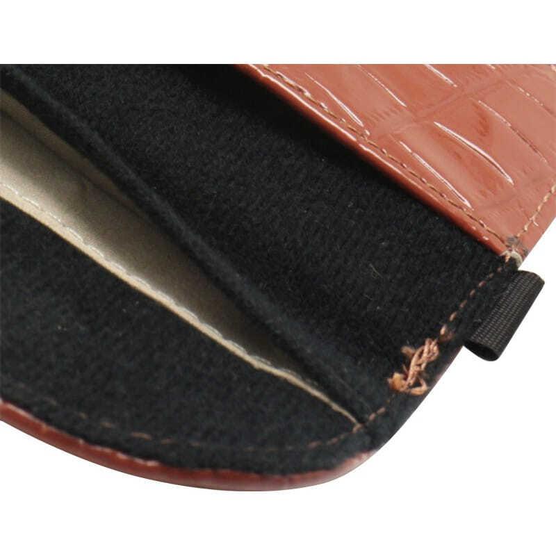 Аксессуары для ингибиторов Крокодил ПУ Кожаная защитная противорадиационная сумка. Чехол для смартфона, блокирующий сигнал. Коричневый цвет. 6,1х3,3 дюйма