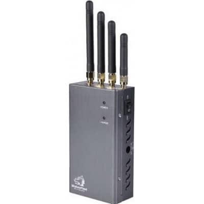 122,95 € 免费送货 | 手机干扰器 高功率便携式信号阻断器。灰色 Portable 15m