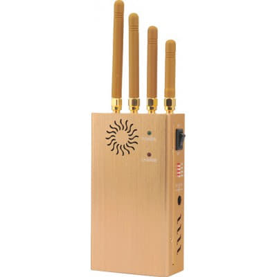 135,95 € Envío gratis | Bloqueadores de Teléfono Móvil Bloqueador de señal portátil de alta potencia. Color dorado GSM Portable 20m