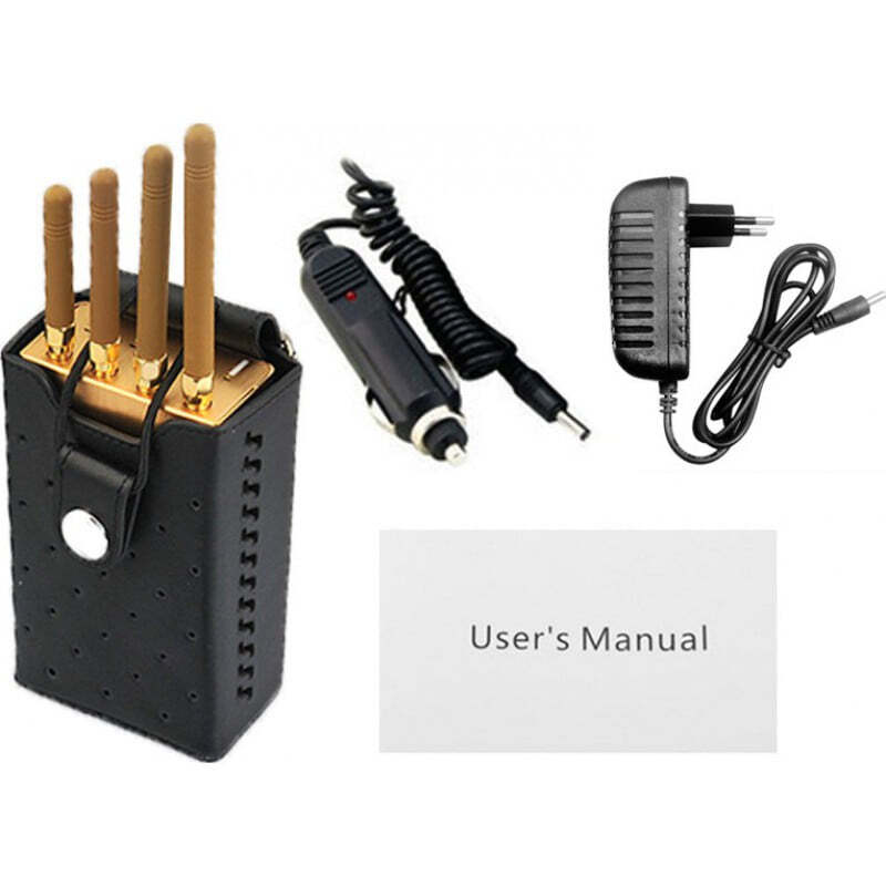 135,95 € Free Shipping | Cell Phone Jammers High power portable signal blocker. Gold color GSM Portable 20m