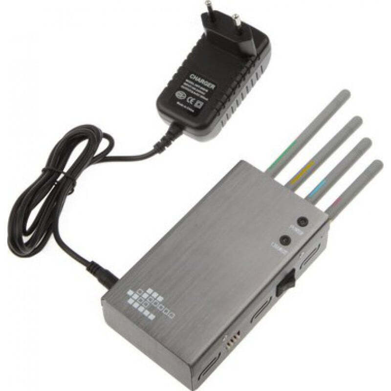 Cell Phone Jammers Portable signal blocker. Silver color GSM Portable 20m