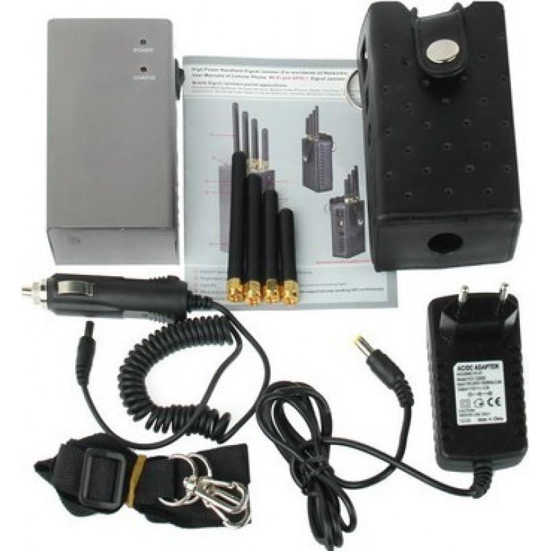 手机干扰器 高功率便携式信号阻断器 Portable 15m