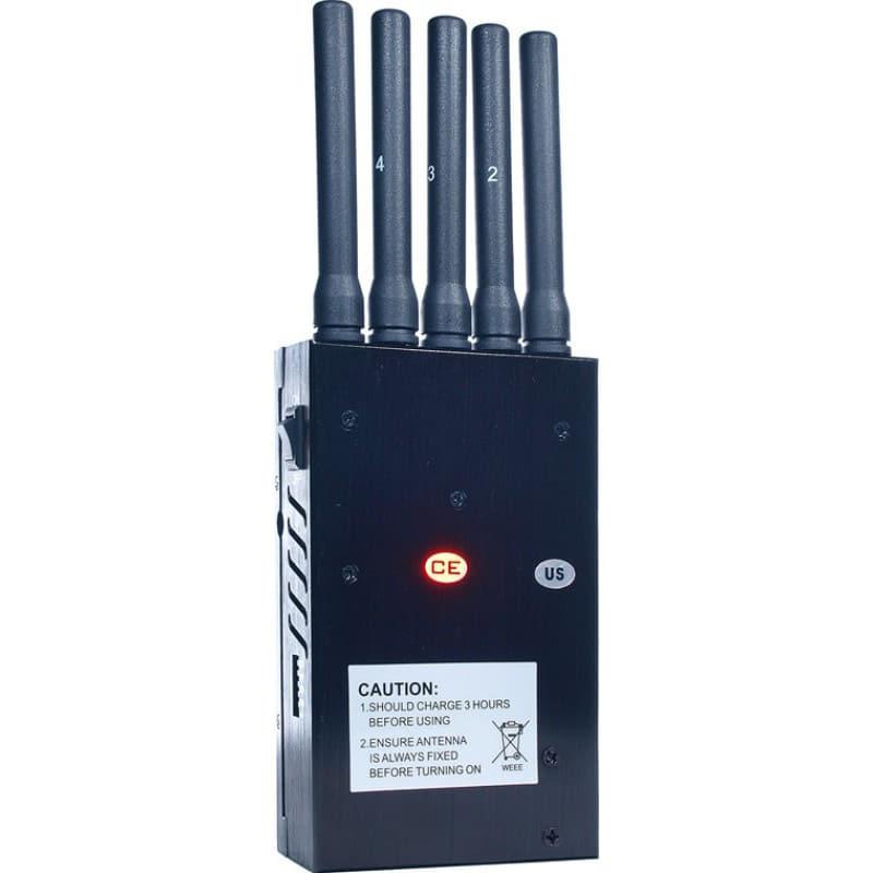 135,95 € Envío gratis | Bloqueadores de Teléfono Móvil 5 antenas. Bloqueador de señal inalámbrico 3G
