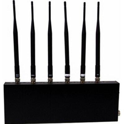 Cell Phone Jammers Desktop signal blocker. 6 Antennas Desktop