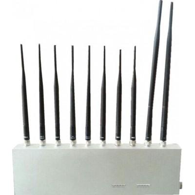 234,95 € Envío gratis | Bloqueadores de Teléfono Móvil Bloqueador de señal omnidireccional. 10 bandas 3G