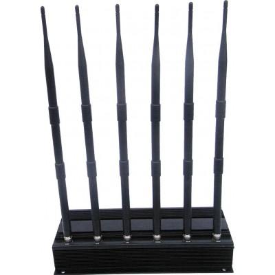 259,95 € 免费送货 | 手机干扰器 全向信号阻断器。 6天线 VHF