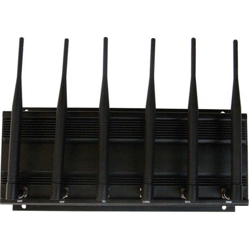 265,95 € Free Shipping   Cell Phone Jammers Desktop signal blocker. 6 Antennas VHF Desktop