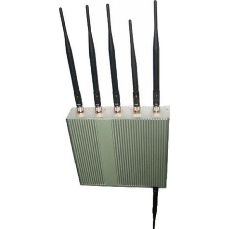 Bloqueurs de Téléphones Mobiles bloqueur de signal 15W. 6 antennes