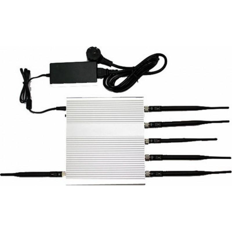 Cell Phone Jammers 15W signal blocker. 6 Antennas