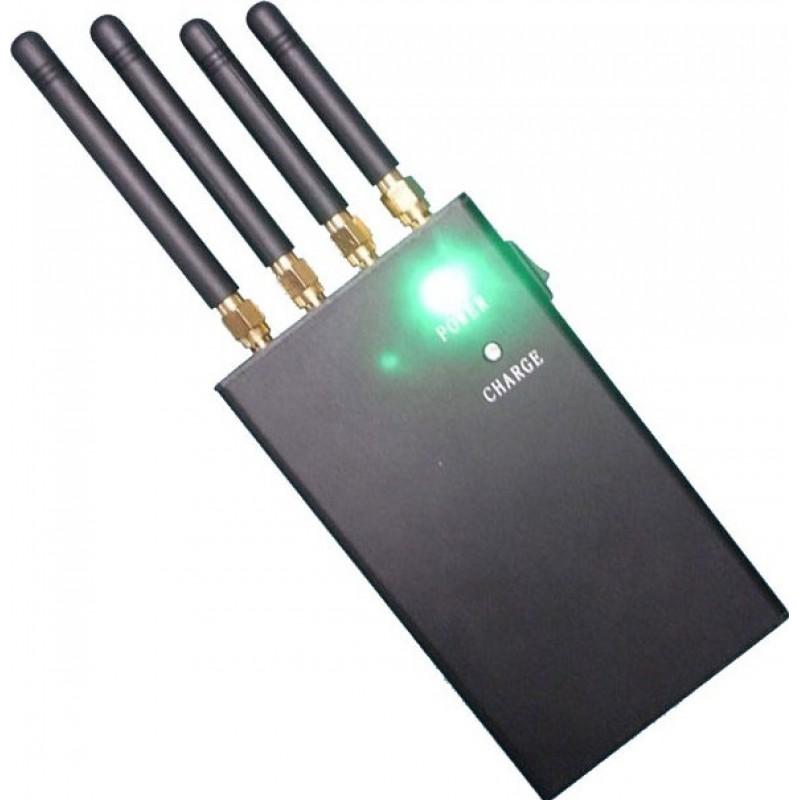 122,95 € Envío gratis | Bloqueadores de Teléfono Móvil 4 bandas. Bloqueador de señal portátil de 4 W Portable