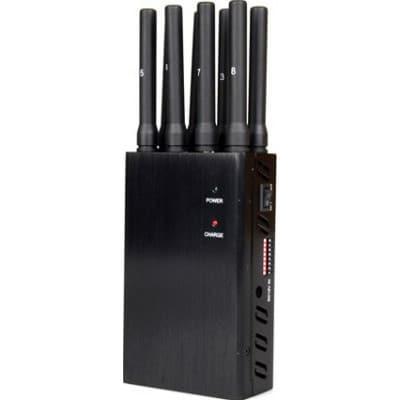 172,95 € 免费送货 | 手机干扰器 8个天线。便携式信号阻断器 GSM Portable