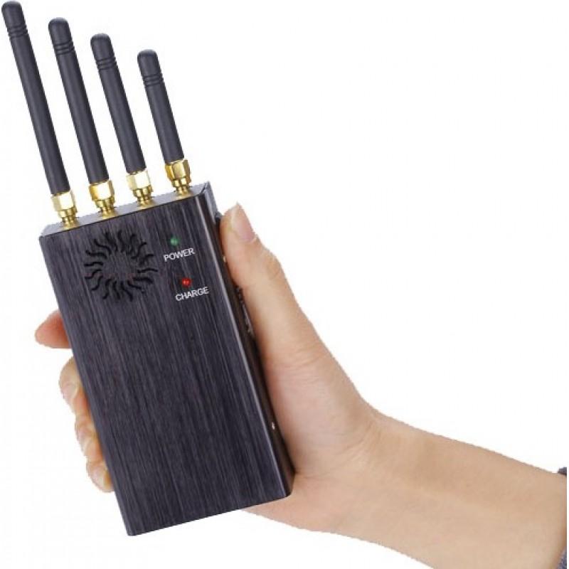 122,95 € 送料無料 | 携帯電話ジャマー ハンドヘルド信号ブロッカー 3G Handheld
