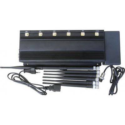 携帯電話ジャマー 6アンテナ信号ブロッカー