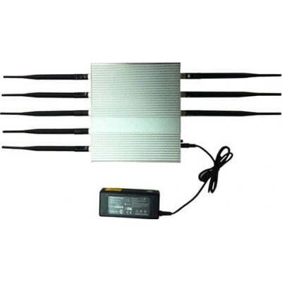 Cell Phone Jammers 16W High power desktop signal blocker. 8 Antennas Desktop