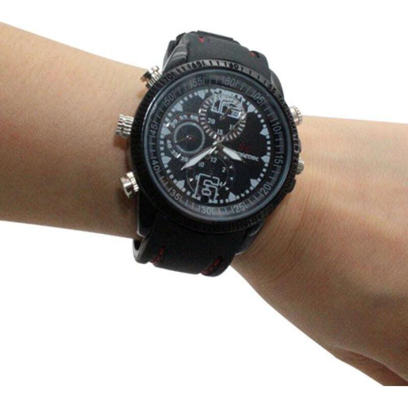 39,95 € Бесплатная доставка | Шпионские наручные часы Модные наручные часы Spy. Цифровой видеорегистратор (DVR). Скрытая камера. Водонепроницаемый. 2.0MP камера. 30FPS 8 Gb 480P HD