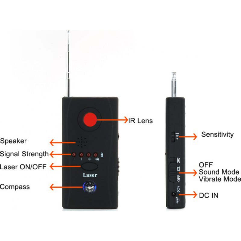 31,95 € Free Shipping | Signal Detectors Wireless signal and spy camera lens detector. Privacy protection anti-spy device