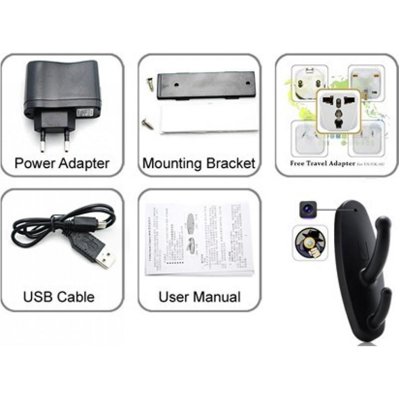 34,95 € Бесплатная доставка | Другие скрытые камеры Шпионская вешалка для одежды. Движение активировано. HD Цифровой видеорегистратор (DVR). Скрытая камера. Слот для TF-карты