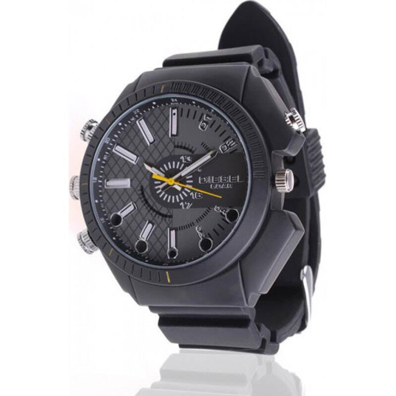 54,95 € Бесплатная доставка | Шпионские наручные часы Инфракрасная HD Водонепроницаемая шпионская камера. Мини цифровой видеомагнитофон (DVR) 8 Gb 1080P Full HD