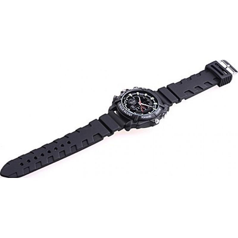 53,95 € Kostenloser Versand | Armbanduhren mit versteckten Kameras Infrarot HD Wasserdichte Spionagekamera. Mini Digital Video Recorder (DVR) 8 Gb 1080P Full HD