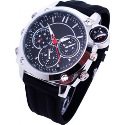 63,95 € Бесплатная доставка | Шпионские наручные часы Шпионские наручные часы. Скрытая камера. Цифровая видеозапись. Кожаный ремень. Водонепроницаемый. Компас 8 Gb 1080P Full HD