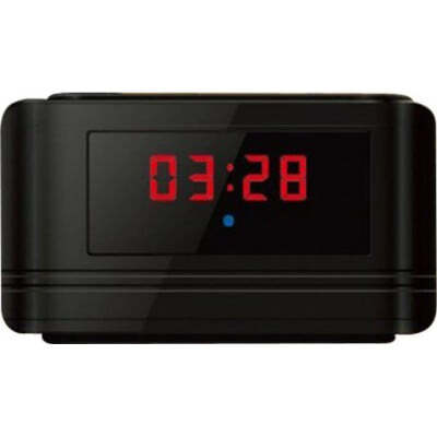 52,95 € Envío gratis | Relojes Espía Despertador multifuncional. Detección de movimiento. Espía camara oculta. Grabador de video digital (DVR). Negro 720P HD