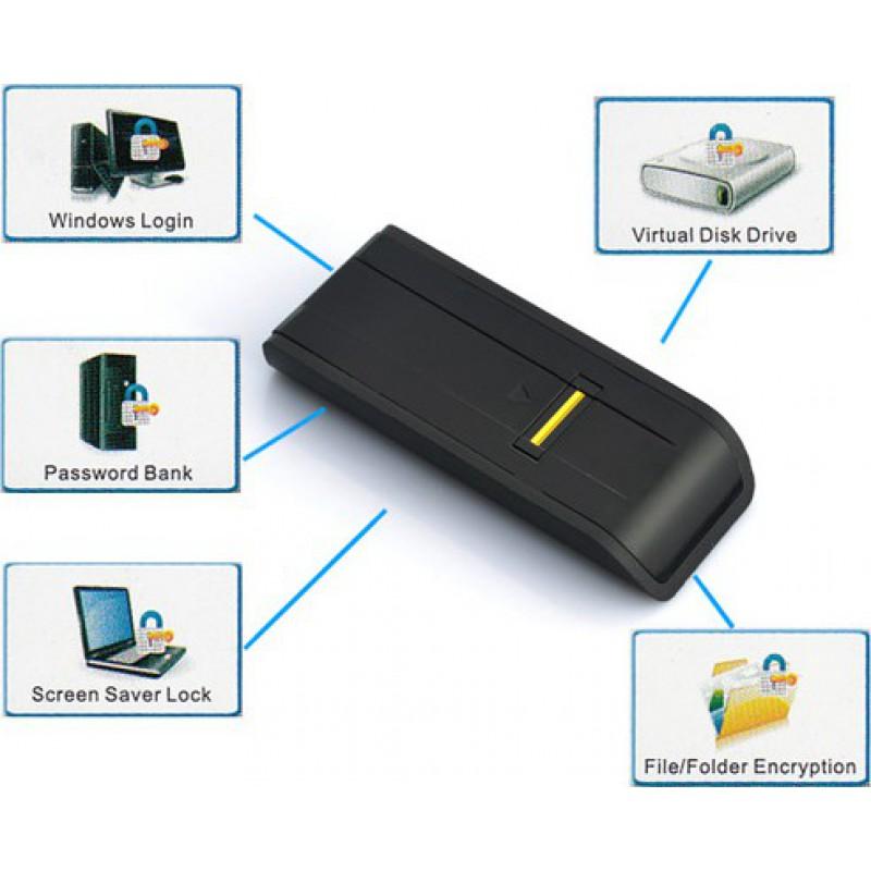 Gadgets Espía Ocultos Lector biométrico de huellas digitales. Bloqueo de contraseña de seguridad biométrica para PC