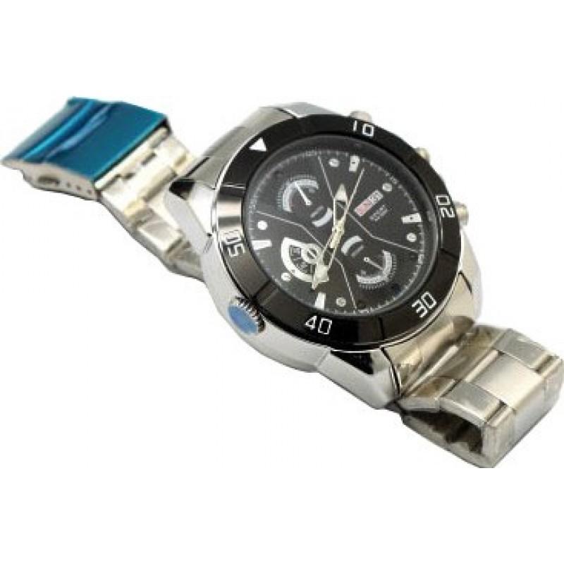 Relógios de Pulso Espiã Câmera de relógio espião pinhole. Gravador de vídeo digital (DVR). Visão noturna IR automática. Slot para cartão TF 720P HD