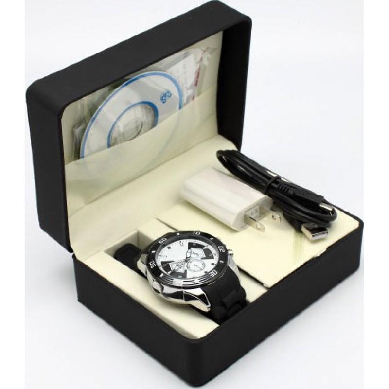 Шпионские наручные часы Шпионские камеры смотреть. Батарея 500мА. Смотреть DVR. Автоматическая ИК ночного видения. Слот для TF-карты 720P HD