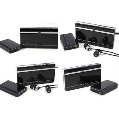 Mini surveillance audio sans fil. Kits émetteur et récepteur. Temps d'attente ultra long. Large plage de fonctionnement