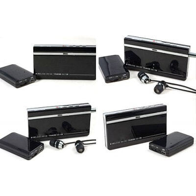 Mini wireless audio monitoring. Transmitter and receiver kits. Ultra long standby time. Wide operation range