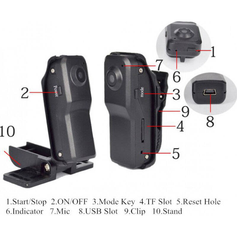 39,95 € Free Shipping   Other Hidden Cameras Mini hidden camera. High-fidelity audio. Motion detection. Up to 64 Gb TF Card 8 Gb 1080P Full HD