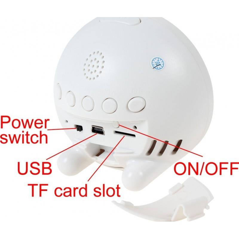 69,95 € Бесплатная доставка | Шпионские часы Шпионские часы. Скрытая камера. Определение движения. Цифровой видеорегистратор (DVR). H264 / беспроводной / WiFi / IP. iPhone / 720P HD