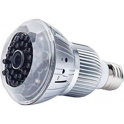 E27 bulb hidden camera. CCTV Camera. Digital video recorder (DVR). Remote control. TF Card Slot. H264/WiFi. IR Night vision. PC/ 1080P Full HD