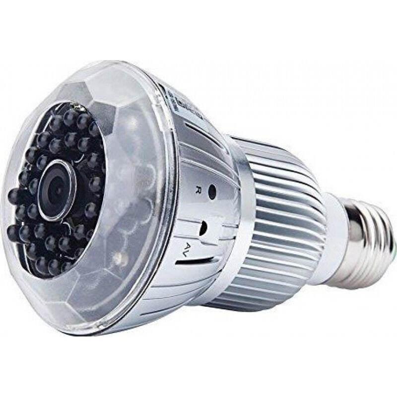 73,95 € Free Shipping | Other Hidden Cameras E27 bulb hidden camera. CCTV Camera. Digital video recorder (DVR). Remote control. TF Card Slot. H264/WiFi. IR Night vision. PC/ 1080P Full HD