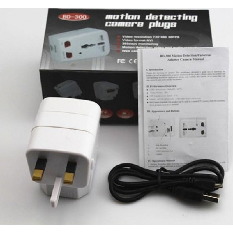 Other Hidden Cameras Universal spy adapter with mini digital video recorder. Pinhole camera (DVR). Motion detection