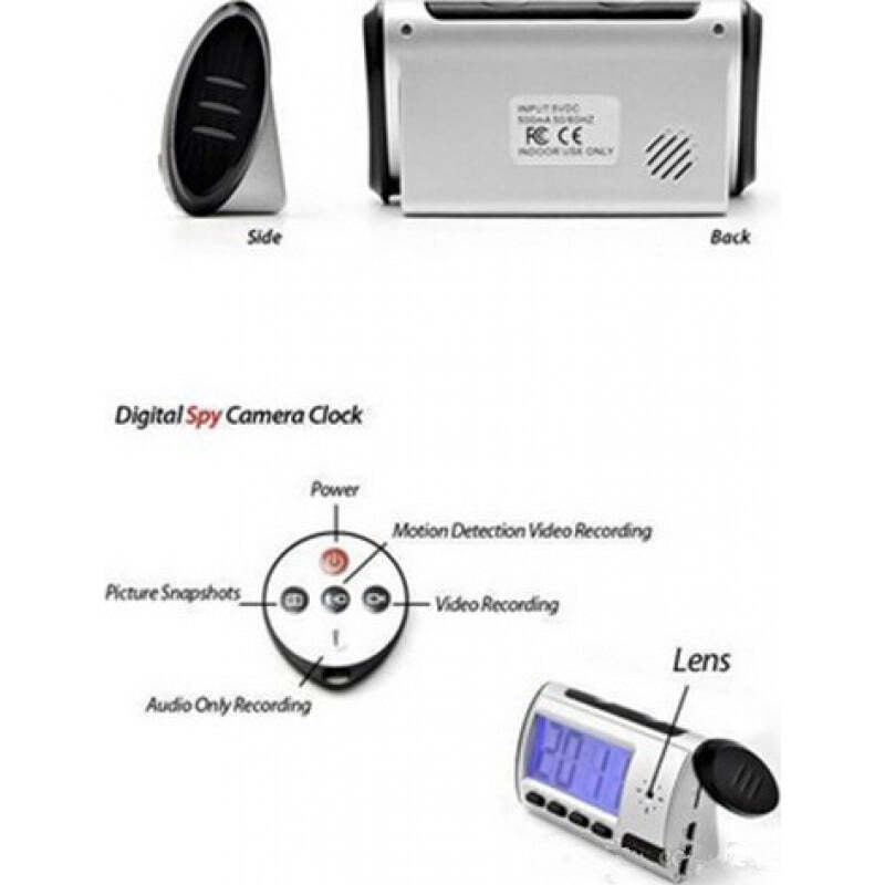 16,95 € Envoi gratuit | Montres Espion Réveil numérique. Caméra espion cachée. Détection de mouvement. LCD 2,5 pouces. Caméra espion. Télécommande