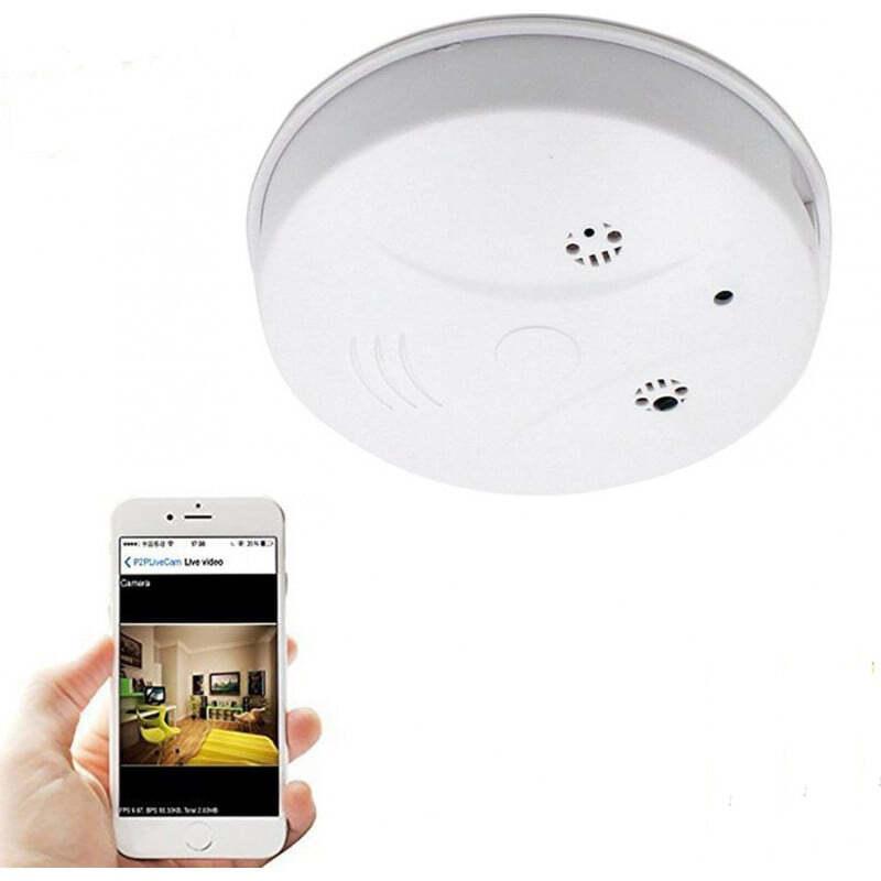 Andere versteckte Kameras Rauchmelder versteckte Kamera. W-lan. Spionage-Kamera. Bewegungserkennung. Kontrolliert und per Telefon eingesehen 1080P Full HD