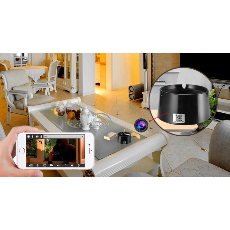 59,95 € Free Shipping | Other Hidden Cameras Ashtray hidden camera. WiFi. Invisible lens. Monitored by Cell phone