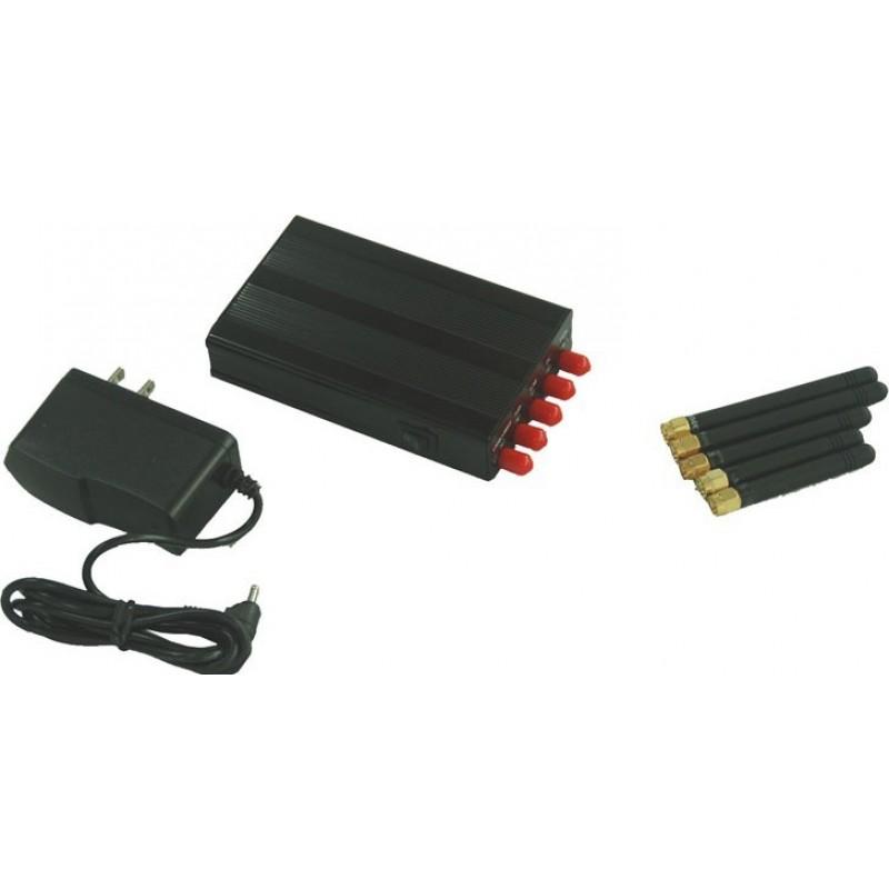 75,95 € 免费送货 | 手机干扰器 5天线。便携式信号阻断器 GPS Portable