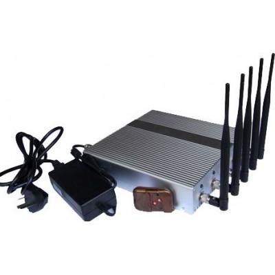 bloqueador de sinal de 5 bandas com controle remoto GPS