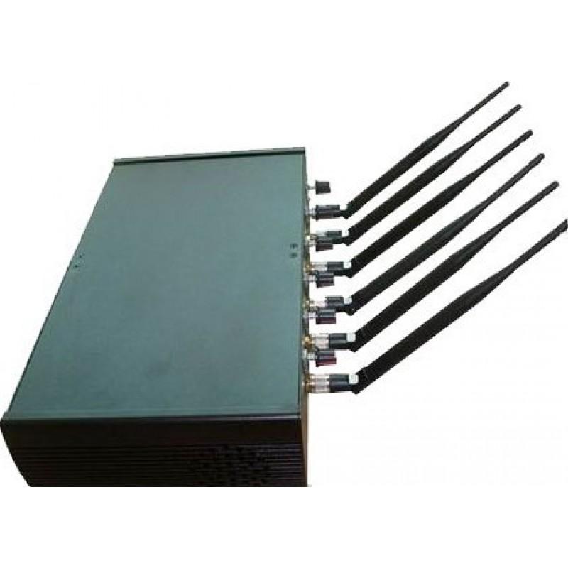 179,95 € Envoi gratuit | Bloqueurs de Téléphones Mobiles Bloqueur de signaux haute puissance réglable. 6 antennes GPS