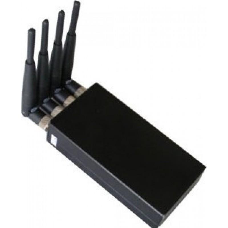 75,95 € Kostenloser Versand | Handy-Störsender 4W Mobiler Hochleistungs-Signalblocker Cell phone GSM Portable