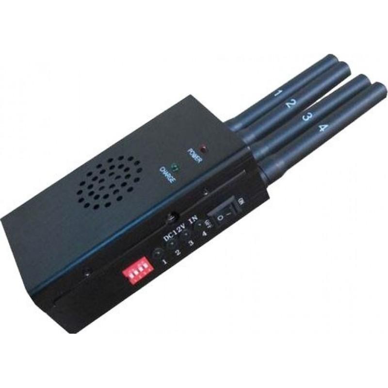 65,95 € 免费送货 | 手机干扰器 便携式大功率信号阻断器,带冷却风扇 Cell phone GSM Portable