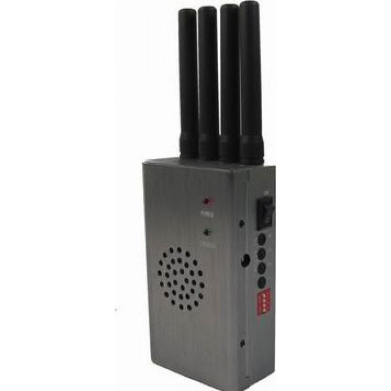 65,95 € Бесплатная доставка   Блокаторы мобильных телефонов Портативный блокиратор сигналов высокой мощности с вентилятором Cell phone GSM Portable